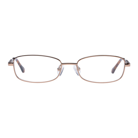 Oroton Female Coast Brown Rectangle Optical Frames