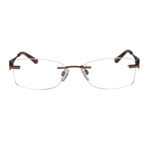 Oroton Female Ambrosial Brown Rectangle Optical Frames