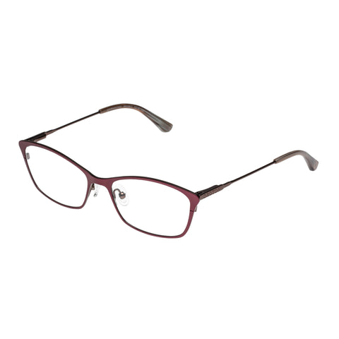 Oroton Female Entrancing Burgundy Cat-eye Optical Frames