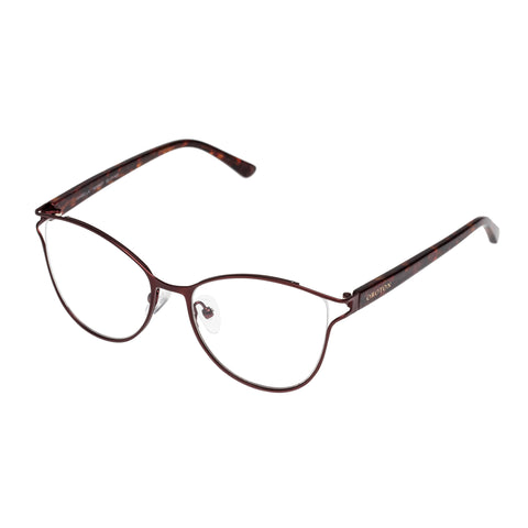Oroton Female Isabella Burgundy Cat-eye Optical Frames