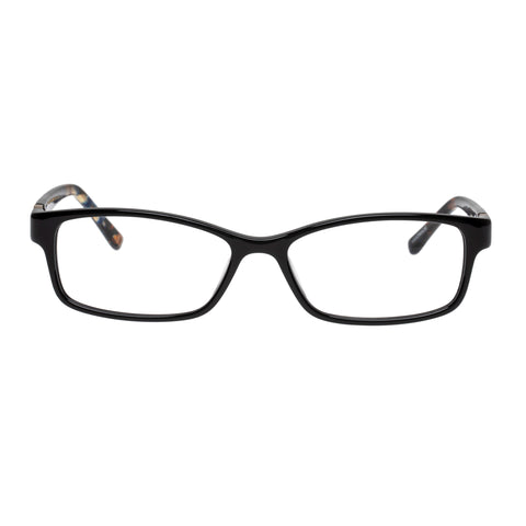 Oroton Female Melaque Black Modern Rectangle Optical Frames