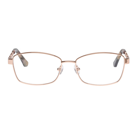 Oroton Female Alpine Trois Rose Rectangle Optical Frames