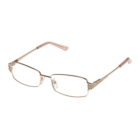 Oroton Female Melia Gold Rectangle Optical Frames