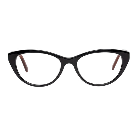 Oroton Female Orla Black Cat-eye Optical Frames