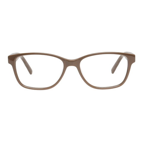 Oroton Female Juliette Tan Modern Rectangle Optical Frames