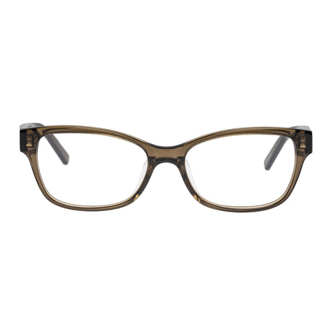 Oroton Female Beatrix Khaki Modern Rectangle Optical Frames