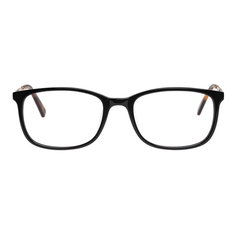 Oroton Female Octavia Black Modern Rectangle Optical Frames