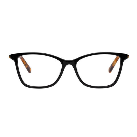 Oroton Female Adela Black Modern Rectangle Optical Frames