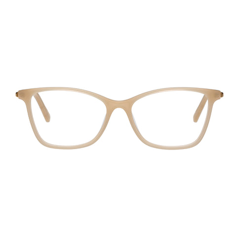 Oroton Female Adela Nude Modern Rectangle Optical Frames