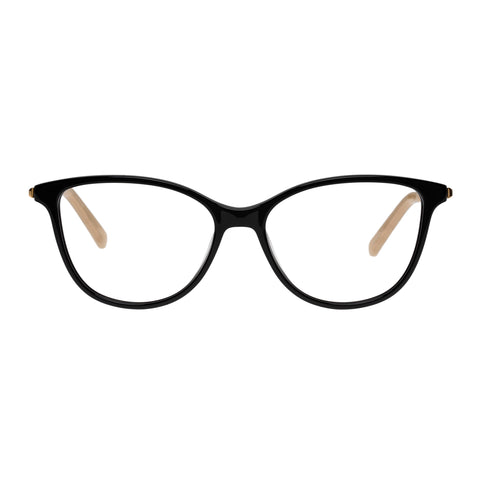 Oroton Female Cosima Black Cat-eye Optical Frames