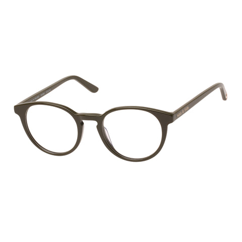Sass And Bide Female Lucy In The Sky Khaki Round Optical Frames