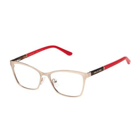 Sass And Bide Female Carried Away Gold Modern Rectangle Optical Frames