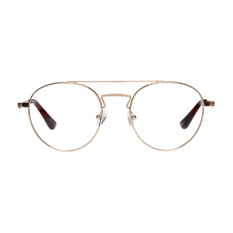 Sass And Bide Female Chinzy Capricornus Gold Round Optical Frames