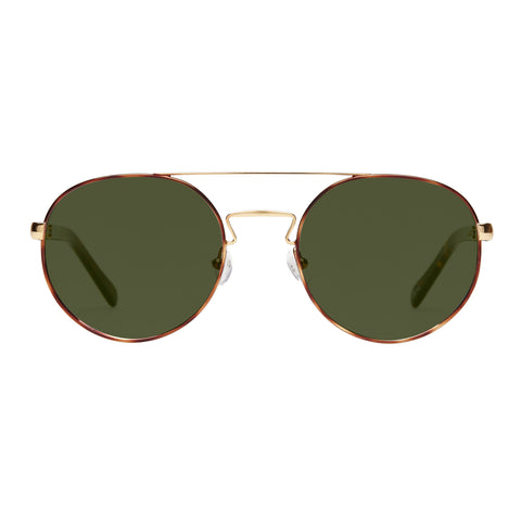 Sass And Bide Female Bahia Jewels Gold Round Sunglasses