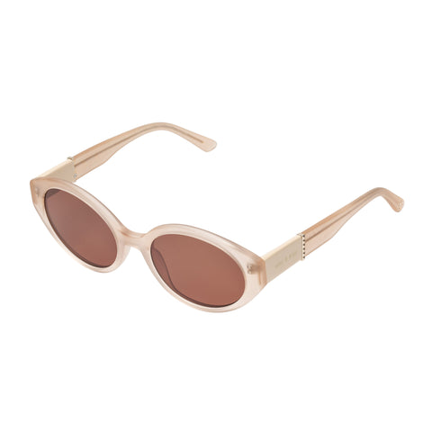 Sass And Bide Female Evasive Oberon Beige Oval Sunglasses