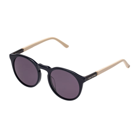 Sass And Bide Female Elated & Helena Navy Round Sunglasses