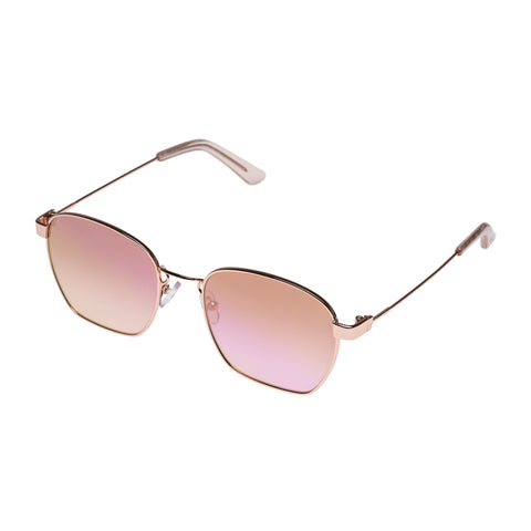 Sass And Bide Female Ethereal Egeus Rose Square Sunglasses