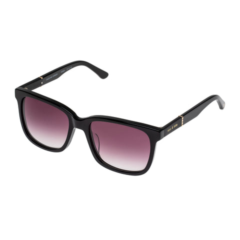 Sass And Bide Female Dazzling Dorado Black Modern Rectangle Sunglasses