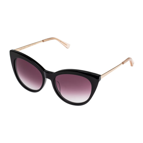 Sass And Bide Female Gemini Glow Black Cat-eye Sunglasses