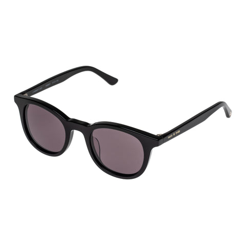 Sass And Bide Female Lambent Leo Black Modern Rectangle Sunglasses