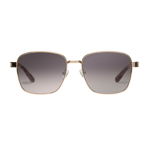 Sass And Bide Female Twisted Taboo Gold Square Sunglasses