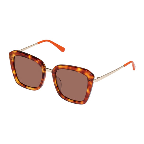 Sass And Bide Female Electric Nomad Tort Square Sunglasses