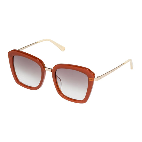 Sass And Bide Female Electric Nomad Brown Square Sunglasses