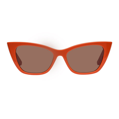 Sass And Bide Female Obscure Journey Orange Cat-eye Sunglasses
