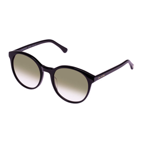Sass And Bide Female Supernature Black Round Sunglasses