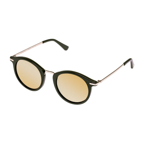 Sass And Bide Female Moonlight Khaki Round Sunglasses