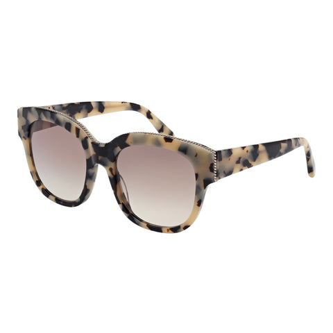 Stella Mccartney Female Sc0007s002 Avana (26)-2 Tort Wrap Fashion Sunglasses