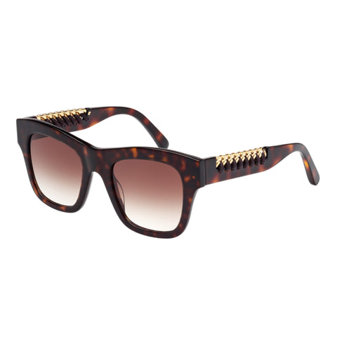 Stella Mccartney Female Sc0011s002 Avana (26)-2 Tort Wrap Fashion Sunglasses