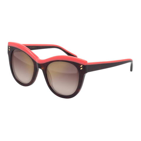 Stella Mccartney Female Sc0021s003 Avana (26)-3 Tort Wrap Fashion Sunglasses