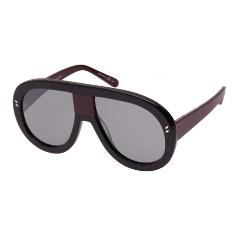 Stella Mccartney Female Sc0032s001 Black (26)-3 Black Wrap Fashion Sunglasses