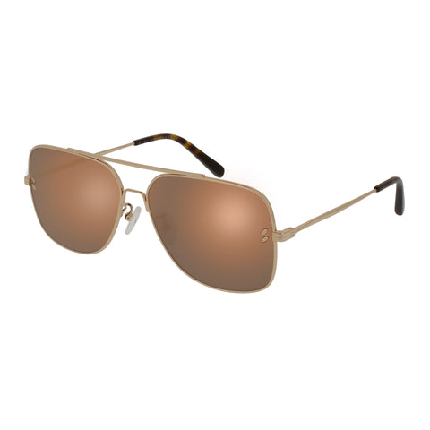 Stella Mccartney Uni-sex Sc0055s004 Gold (71)-3 Gold Aviator Sunglasses