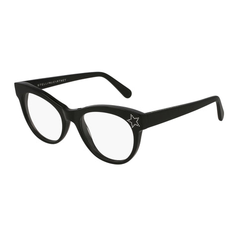 Stella Mccartney Female Sc0103o001 Black (70) Black Wrap Fashion Optical Frames