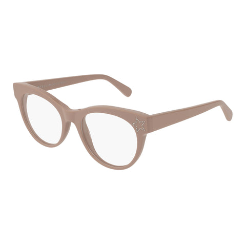 Stella Mccartney Female Sc0103o005 Nude (70) Beige Wrap Fashion Optical Frames