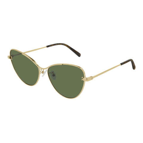 Stella Mccartney Female Sc0157s001 Gold (26)-3 Gold Cat-eye Sunglasses
