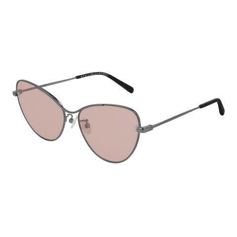 Stella Mccartney Female Sc0157s003 Silver (26)-1 Silver Cat-eye Sunglasses