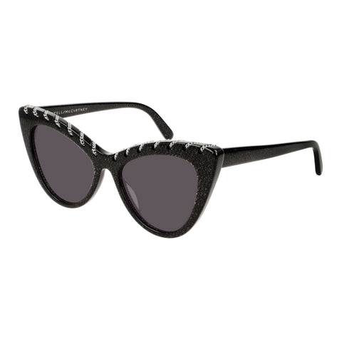 Stella Mccartney Female Sc0163s003 Black (26)-3 Black Cat-eye Sunglasses