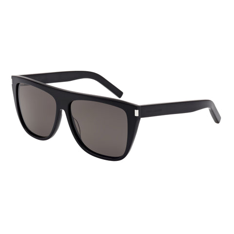 Saint Laurent Uni-sex Sl100 Black Modern Rectangle Sunglasses