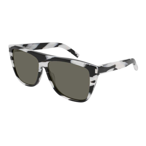 Saint Laurent Uni-sex Sl1 Black Modern Rectangle Sunglasses