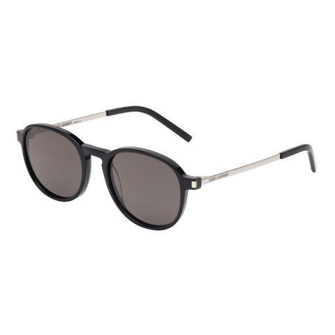 Saint Laurent Male Sl110 Black Round Sunglasses