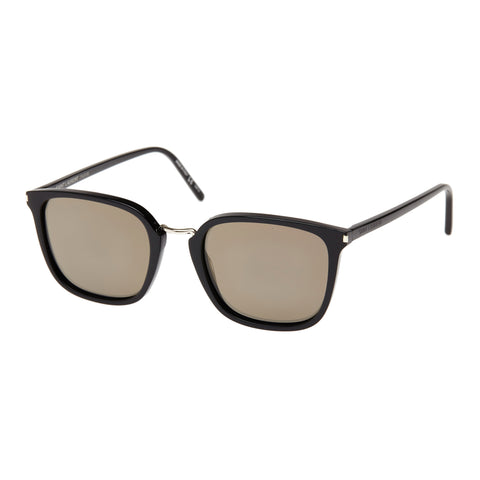 Saint Laurent Uni-sex Sl131combi Black Modern Rectangle Sunglasses