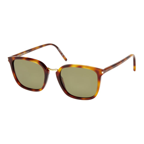 Saint Laurent Uni-sex Sl131combi Tort Modern Rectangle Sunglasses
