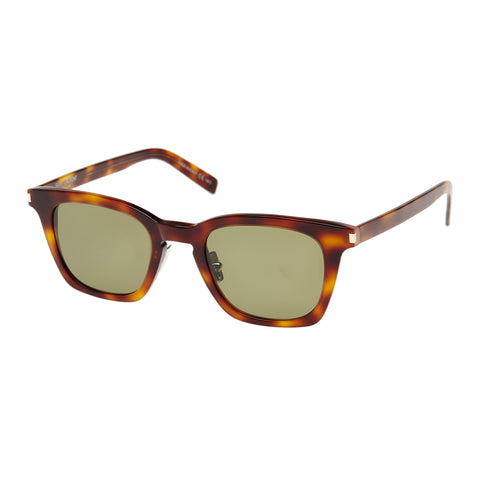 Saint Laurent Uni-sex Sl138slim Tort Modern Rectangle Sunglasses