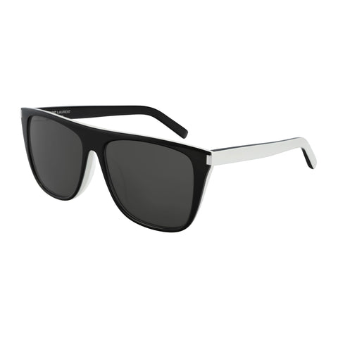 Saint Laurent Uni-sex Sl1f Black Modern Rectangle Sunglasses
