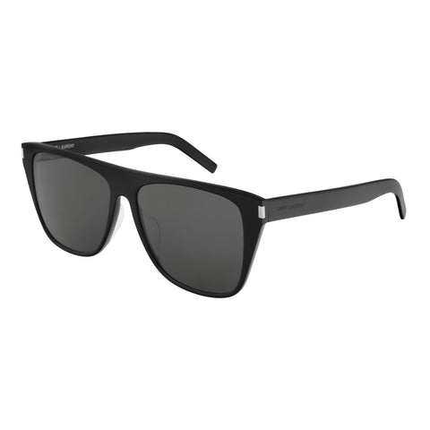 Saint Laurent Male Sl1fslim Black Round Sunglasses