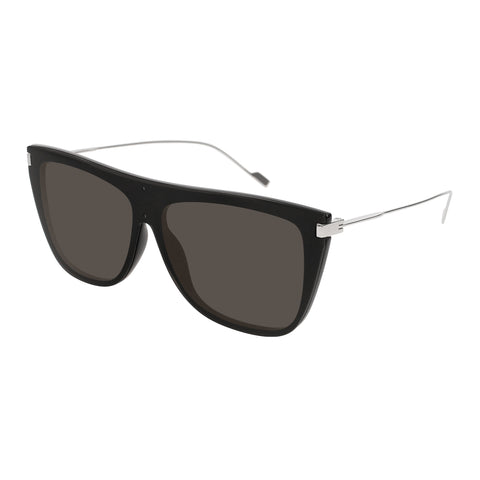 Saint Laurent Uni-sex Sl1t Black Modern Rectangle Sunglasses