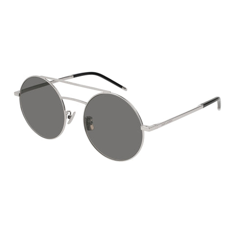Saint Laurent Uni-sex Sl210f Silver Round Sunglasses